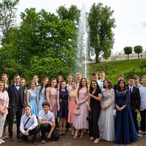 Фото с выпускного учащихся 291 школы