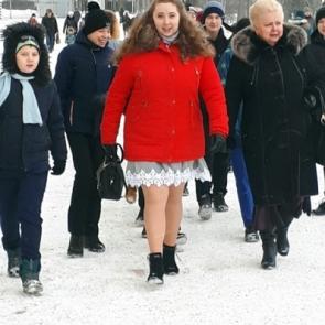 Большой Петргофский Дворец зимой