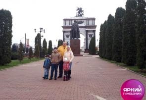 Туристы школьники из Санкт-Петербурга в Курске