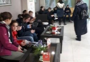 Туристы школьники из Санкт-Петербурга в Курске, гостиница