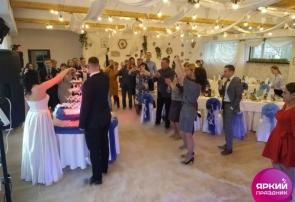 Красивая и яркая свадьба в ресторане, СПб