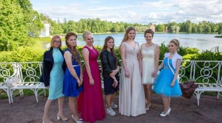 Выпускной вечер в Зеркальном зале Екатерининского дворца
